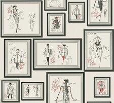 EUR 11,27/qm / Tapete Karl Lagerfeld 37846-3 Fashion Design Luxus Mode Skizzen