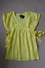 DOROTHY PERKINS YELLOW SEE THROUGH CROSS OVER TOP TIE BELT SIZE 16 BRAND NEW £25