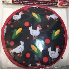 "La Tortilla Oven 10"" Tortilla Warmer & 3 free liners Classic Chicken & Corn"