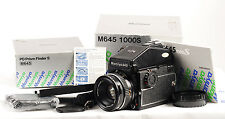 Mamiya M645 1000 S medio formato SLR Film Camera Kit. (1604)