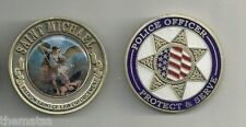 "SAINT MICHAEL PATRON POLICE OFFICERS PROTECT AND SERVE 1.75"" CHALLENGE COIN"