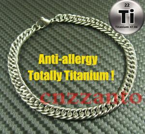 Totally Pure Titanium Ti 6mm width anti allergy Bracelet Hand Chain Ti055