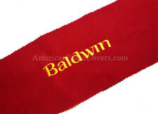 Baldwin Piano Key Cover - Red Felt Embroidered Keyboard Cover