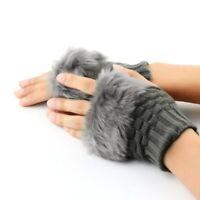 Women Fingerless Gloves Cute Faux Mitten Hand Wrist Warmer Knitting Winter