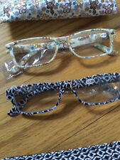 Lori Greiner - Animal Print Set of 2 Reading Glasses in Multi Prints +1.0