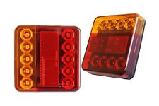 2 x Trailer Truck Lorry 12V Rear Tail Turn Indicator Stop LED Lights Lamps /6923
