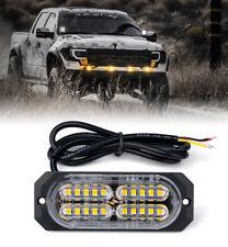 Xprite Amber Squad Seris 4W Flush Mount Side Marker Emergency Truck Strobe Light