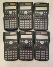 Set of 6 Casio FX-300MS S-V.P.A.M. Scientific Solar Calculators w/ 4 Covers