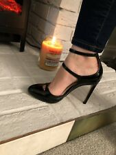 Zara Sexy Stiletto Size 5 Heels Stunning Mistress Dominatrix New Black  Strap