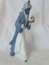 Nao By Lladro King Balthasar With Jug #12036 Brand Nib Gres Nativity X-Mas F/Sh
