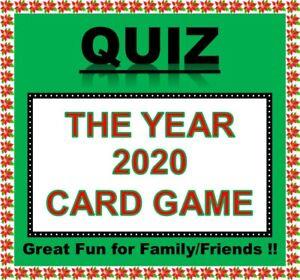 'THE YEAR 2020' Pub Quiz Trivia Card Game Table Fun Families/Friends/Zoom