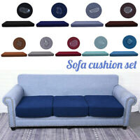 Sofa Seat Cushion Cover Couch Protector Slipcover Replacement Waterproof 1-4Seat