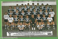 #HH1.  RUGBY LEAGUE MAGAZINE  2-8/5 1990,  WESTERN SUBURBS MAGPIES PINUP
