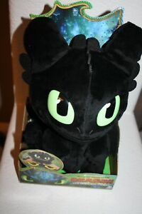 """How to Train Your Dragon The Hidden World Squeeze & Roar Toothless 11"""" Plush New"""