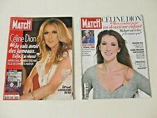 CELINE DION French Paris Match magazine LOT of 2 rare 2010