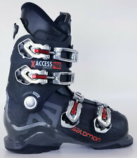 Used $200 Mens Salomon X Access R60 Energyzer Black Red Ski Boots Used
