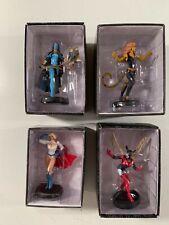 Eaglemoss Dc comics Figurines Lyssa Drak Bleez Cheetah Powergirl Nib lot of 4