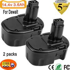 3.6Ah Upgraded for Dewalt 14.4V Battery Xrp Dc9091 Dw9091 De9091 14.4Volt 2Pcs