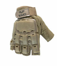 Valken V-Tac Half Finger Hard Back Paintball / Airsoft Gloves Tan XL/XXL