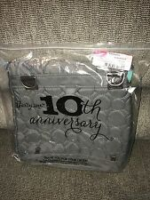 NEW Thirty One Grey Quilted Dots Vary You backpack Purse Bag