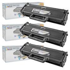 LD © Fits Samsung MLT-D101S Set of 3 Black Laser Toner Cartridges