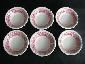 """Syracuse China STRAWBERRY HILL 4 1/2"""" Berry/ Bowl  Restaurant Ware, Set of """"6"""""""