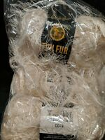 Lot of 3 New Skeins of Lion Brand Yarn Fun Fur Yarn Ivory #098