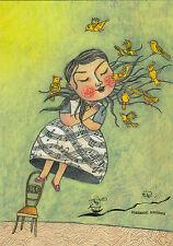 Kunstpostkarte - Selda Marlin Soganci:  Marias Geheimnis