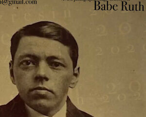 "Tintype of Young George Herman Ruth ""Babe Ruth"" Rare Key Iconic Baseball Hero"