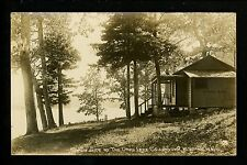 New York NY real photo postcard RPPC Lake Cossayuna, Shady Side Oaks Lake #106