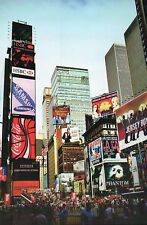 Times Square New York City NY Advertisements Coca Cola Jersey Boys etc. Postcard