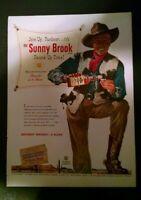 SUNNY BROOK KENTUCKY BOURBON WHISKEY PRINT AD