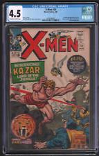 X-Men 10 3/65 CGC 4.5 1st Silver Age Ka-Zar Zabu and The Savage Land 042721DBCG
