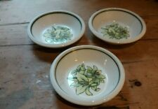 ROYAL WORCESTER  PALISSY ORCHID CEREAL( 3  BOWLS) EXCELLENT