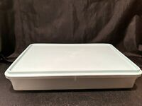 Tupperware #290 Clear Rectangle 9 x 13 Cake Container with #291 Lid Mint