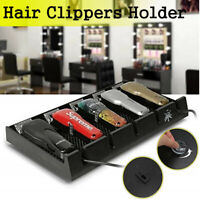 Salon Barber Shop Hair Clipper Storage Holder Rack Scissors Stand Tray