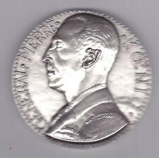 XL WWII Art Deco Slvered Bronze General Pierre Koenig, de Jaeger