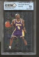 1996-97 Kobe Bryant Fleer Metal #181 Gem Mint 10 RC Rookie LA Lakers