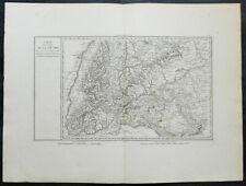 Carte militaire GOUVION SAINT-CYR 1836 SOUABE Danube Constance Tubingen 1