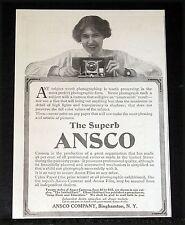 1912 OLD MAGAZINE PRINT AD, THE SUPERB ANSCO CAMERA, TWENTY STYLES, $2 TO $55!