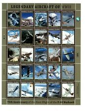 Marshall Islands 2013 - Legendary Aircraft Of WWII - Sheet of 25 Stamps - MNH
