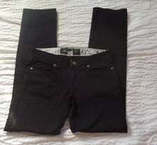 Womens Jimmyz Quality Hand Crafted Straight Black  Jeans Size 2