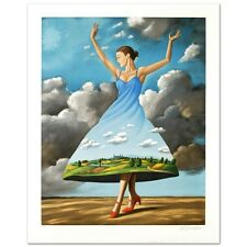 """Texture of Casual Desire"" Lithograph Hand Signed by Rafal Olbinski Limited Edt."