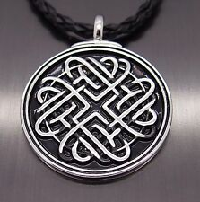 """Celtic Infinite Heart Knot Pewter Amulet Pendant with 20"""" Free Necklace PP#274"""