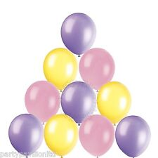 30 Easter Plain Helium Quality Balloons Pink Lilac Yellow Party Decorations