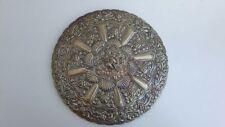 Grande specchio da tavolo Egiziano. Argento sterling 900 Repousse