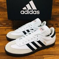 Adidas Originals Samba Mens Multiple Sizes White Sneakers Indoor Soccer Shoes