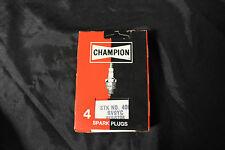 NOS Champion Spark Plugs STK No. 400 RV9YC Resistor (4 Pack) (C-6)