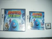 Monsters vs. Aliens (Nintendo DS) Lite Dsi xl 2ds 3ds xl