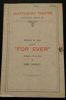 1934 Shaftesbury Theatre: Margaretta Scott Denys Blackelock FOR EVER